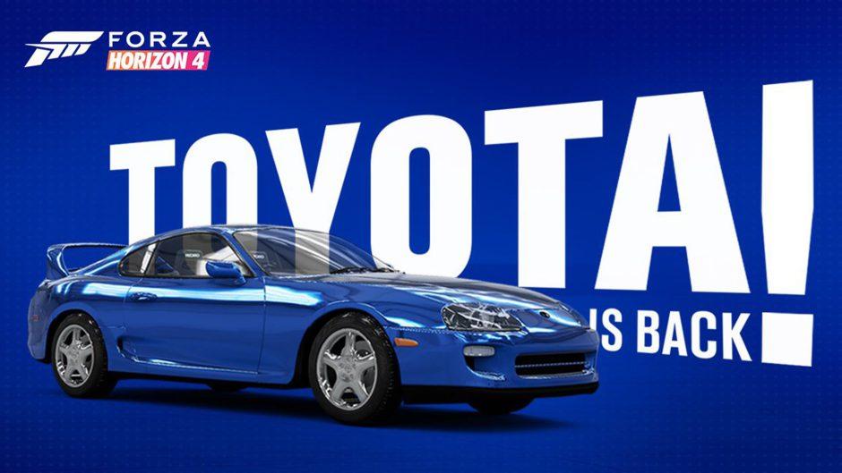 Se rompe la exclusividad del Toyota Supra con Gran Turismo y llega a Forza Horizon 4