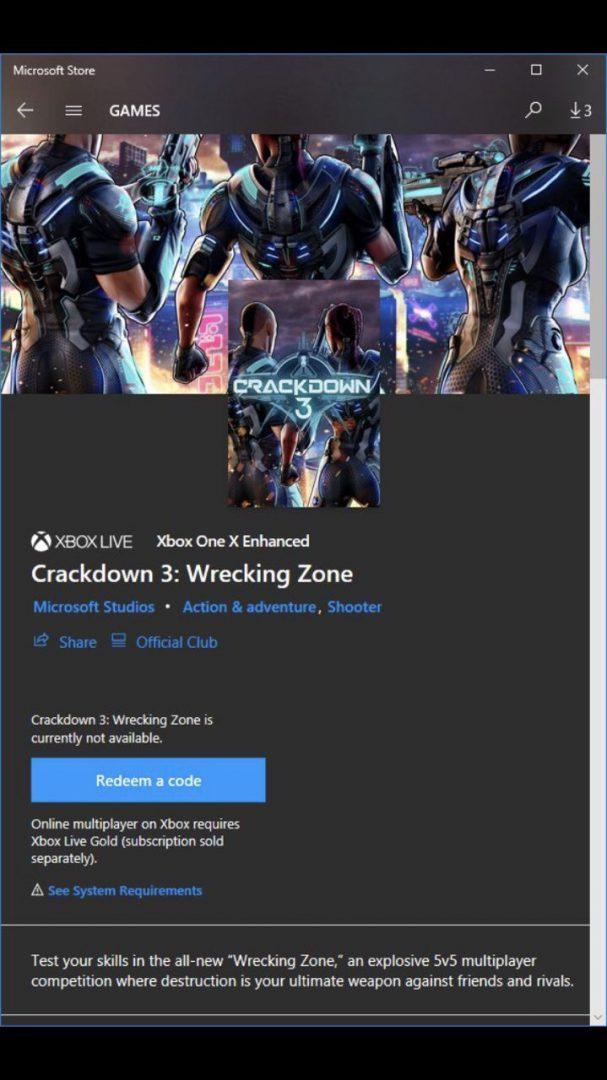 [X018] El multijugador de Crackdown 3 se llamará Wrecking Zone y será individual a la campaña 1