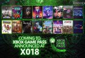 [X018] Estos son los 16 títulos anunciados hoy para Xbox Game Pass