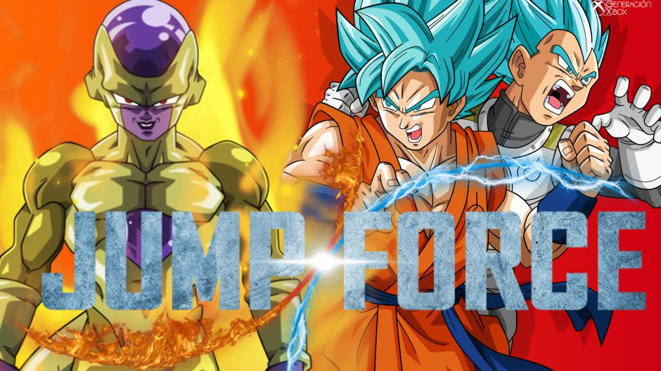 [X018] Nuevo trailer de Jump Force que presenta a Goku y Vegeta Blue junto a Golden Freezer