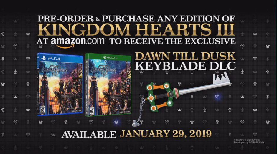Los clientes de Amazon tendrán acceso a un DLC exclusivo de Kingdom Hearts III