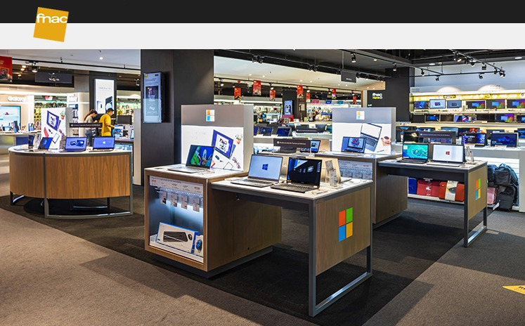 El primer espacio Microsoft Retail Reimagined llega a Fnac L'Illa de Barcelona