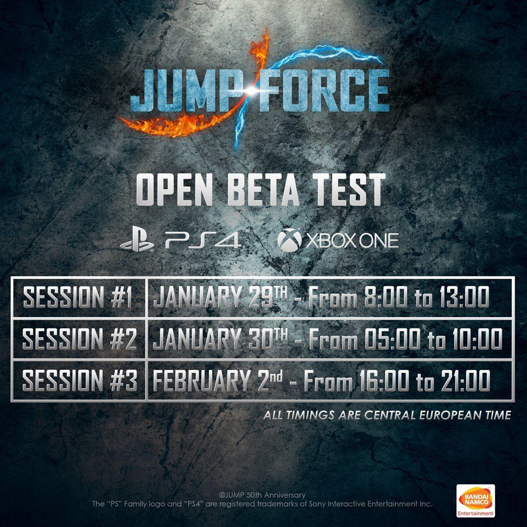 Jump Force anuncia fecha para su nueva Beta abierta - Bandai Namco ha dado a conocer la fecha de la nueva beta abierta de Jump Force,la cual tuvo que ser suspendida hace una semana por problemas con el servidor