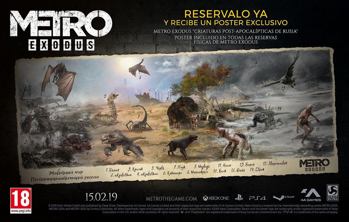 Póster exclusivo con la reserva física de Metro Exodus - Todos los que reserven en físico Metro Exodus recibirán un póster exclusivo.