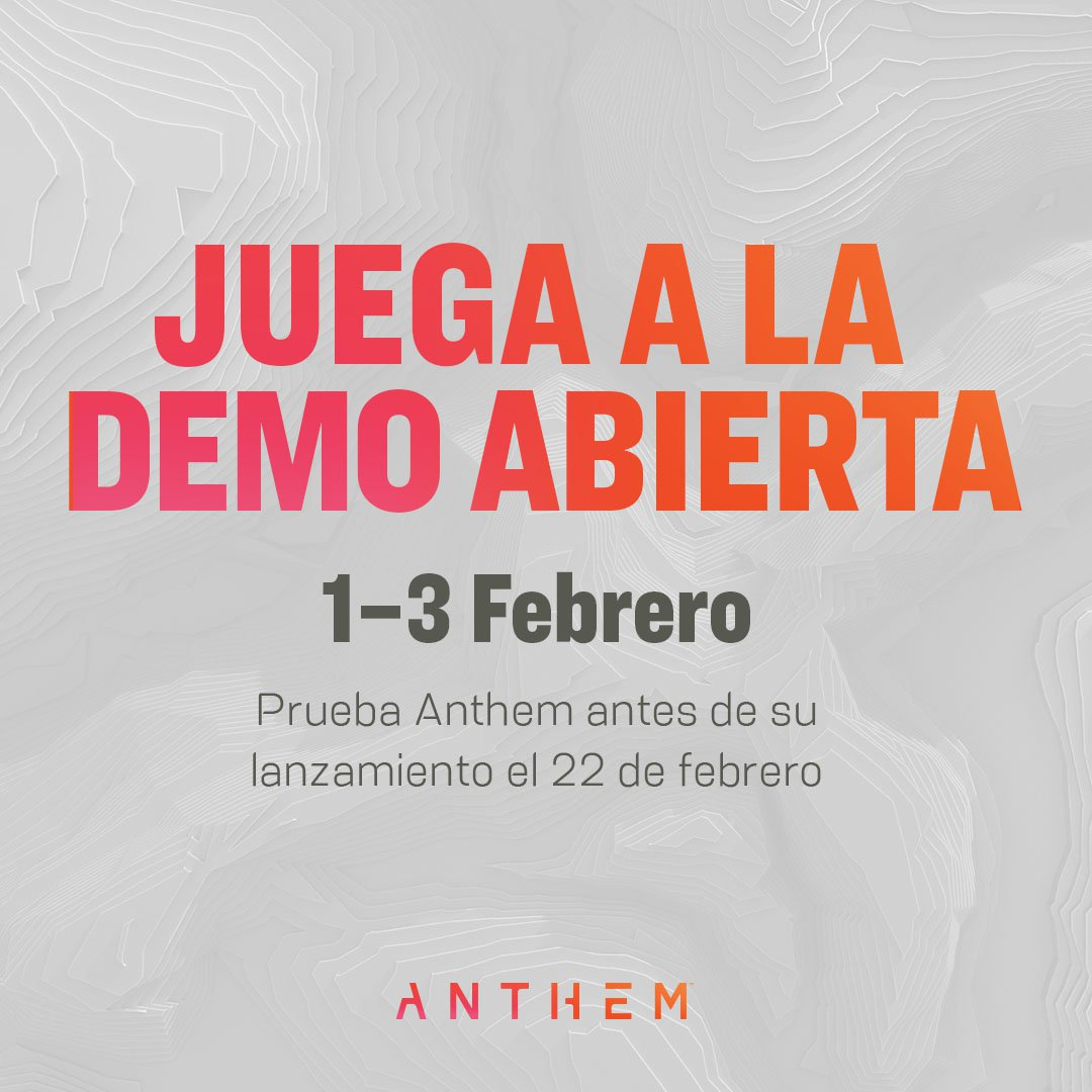 La demo abierta de Anthem estará disponible en Xbox One del 1 al 3 de febrero - En poco menos de un mes podremos probar la demo abierta y anticipada de Anthem, el próximo título futurista de BioWare y Electronic Arts.