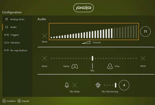 Configuración del mando PDP