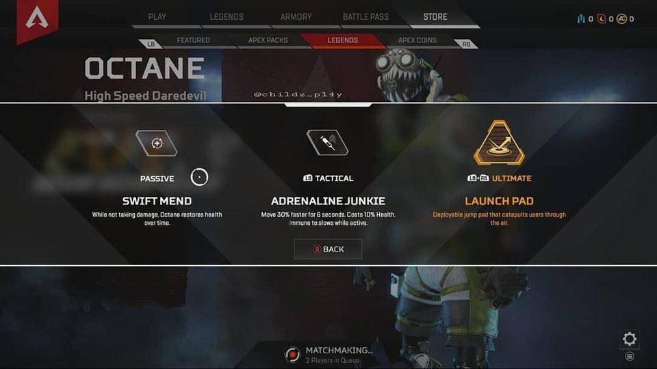 Octane Apex Legends