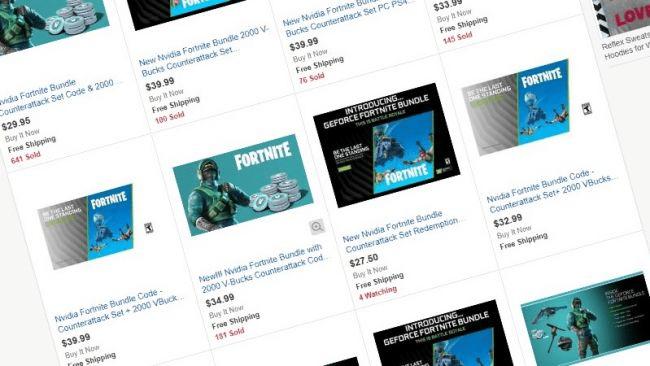 Bundle de Fortnite Reflex en eBay