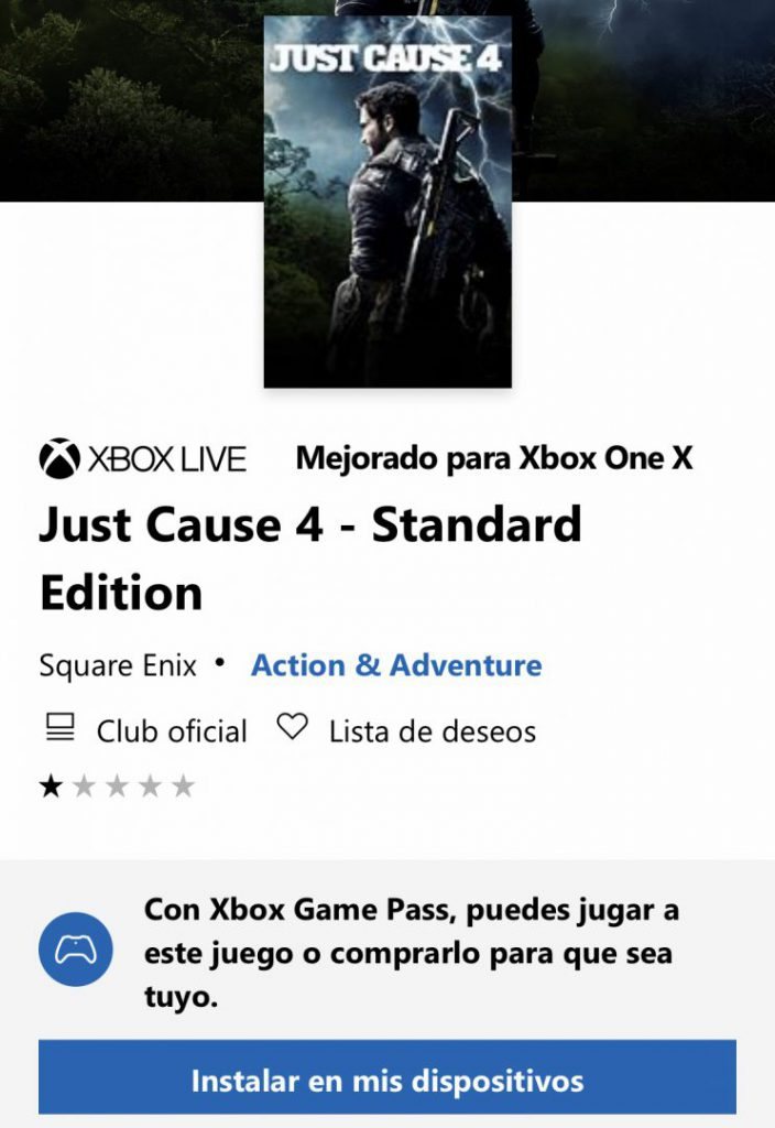 Just Cause 4 disponible en Xbox Game Pass
