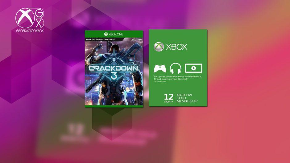 Sorteamos un año de Xbox Live Gold y una copia digital de Crackdown 3