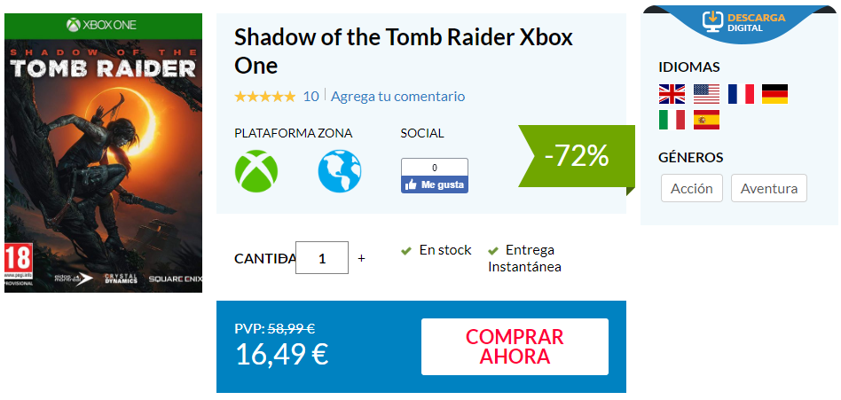 Consigue la edición digital de Shadow of the Tomb Raider por apenas 16€ 1