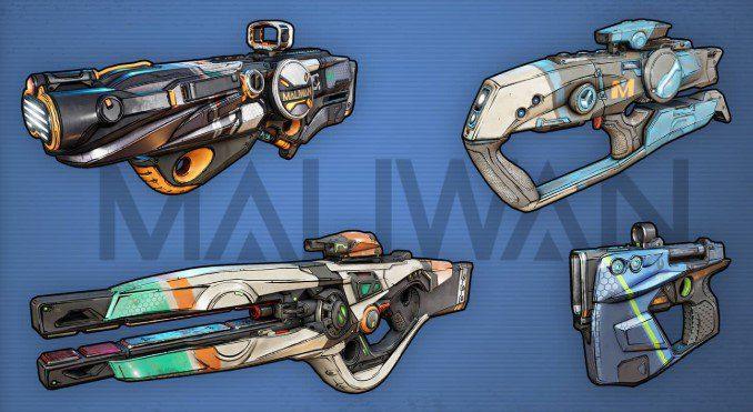 Armas Maliwan Borderlands 3