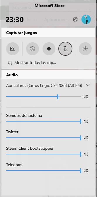 Barra de Juego de Windows 10
