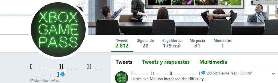 Nombre de Xbox Game Pass en Twitter