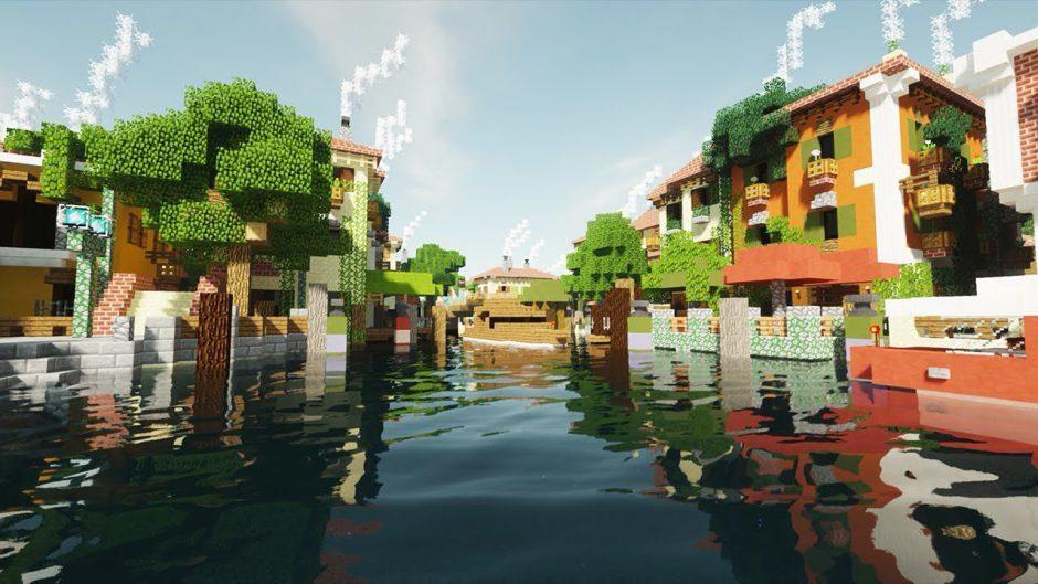 Así de impresionante se ve Minecraft con Ray Tracing, parece una película de animación