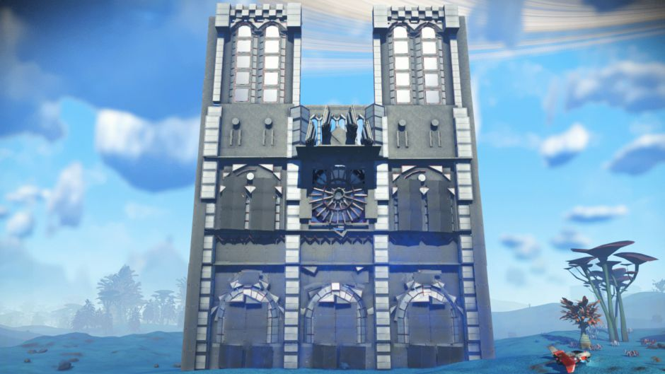 Un usuario de No Man's Sky homenajeó a la Catedral de Notre Dame