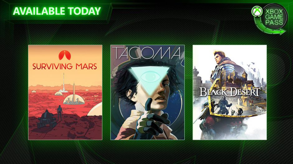 Surviving Mars, Tacoma y Black Desert ya disponibles en Xbox Game Pass