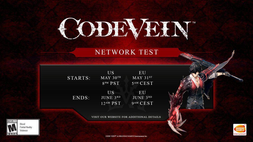 Code Vein ya tiene fecha para su prueba de red