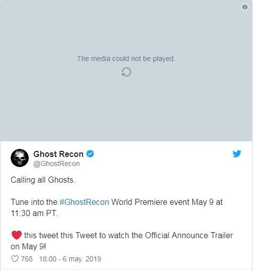Ubisoft confirma accidentalmente Ghost Recon: Breakpoint