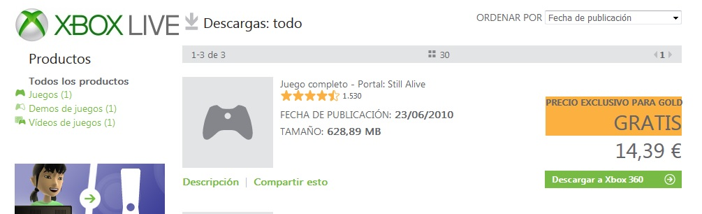 portal: still alive games with gold