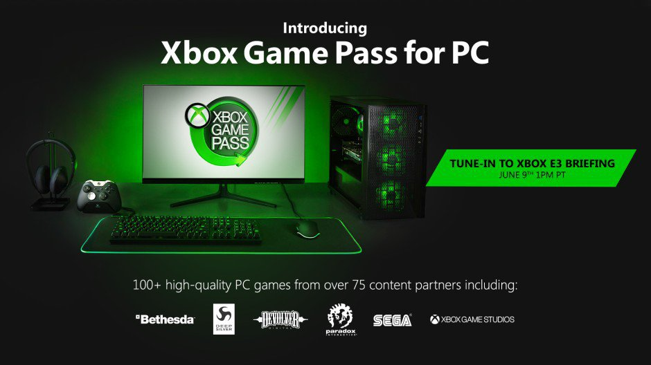 Microsoft anuncia Xbox Game Pass para PC, y abraza a Steam