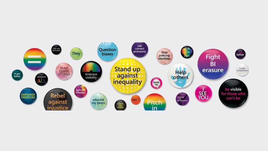 Microsoft y un pin coleccionable para celebrar la inclusión