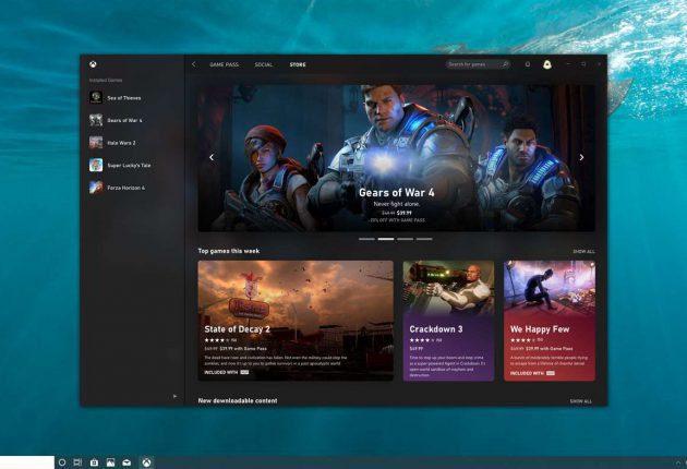 Captura de la nueva aplicación de Xbox 3