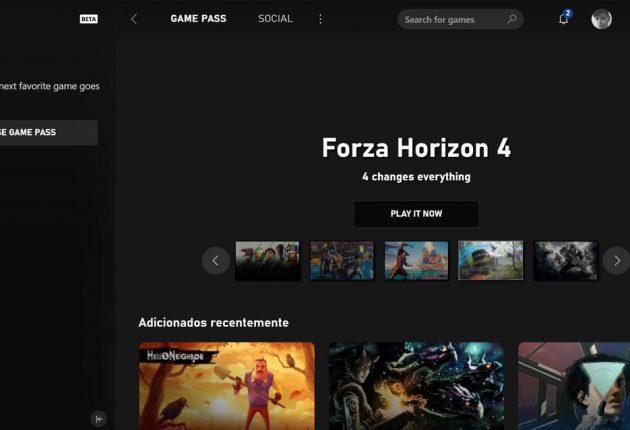 Captura de la nueva aplicación de Xbox 6