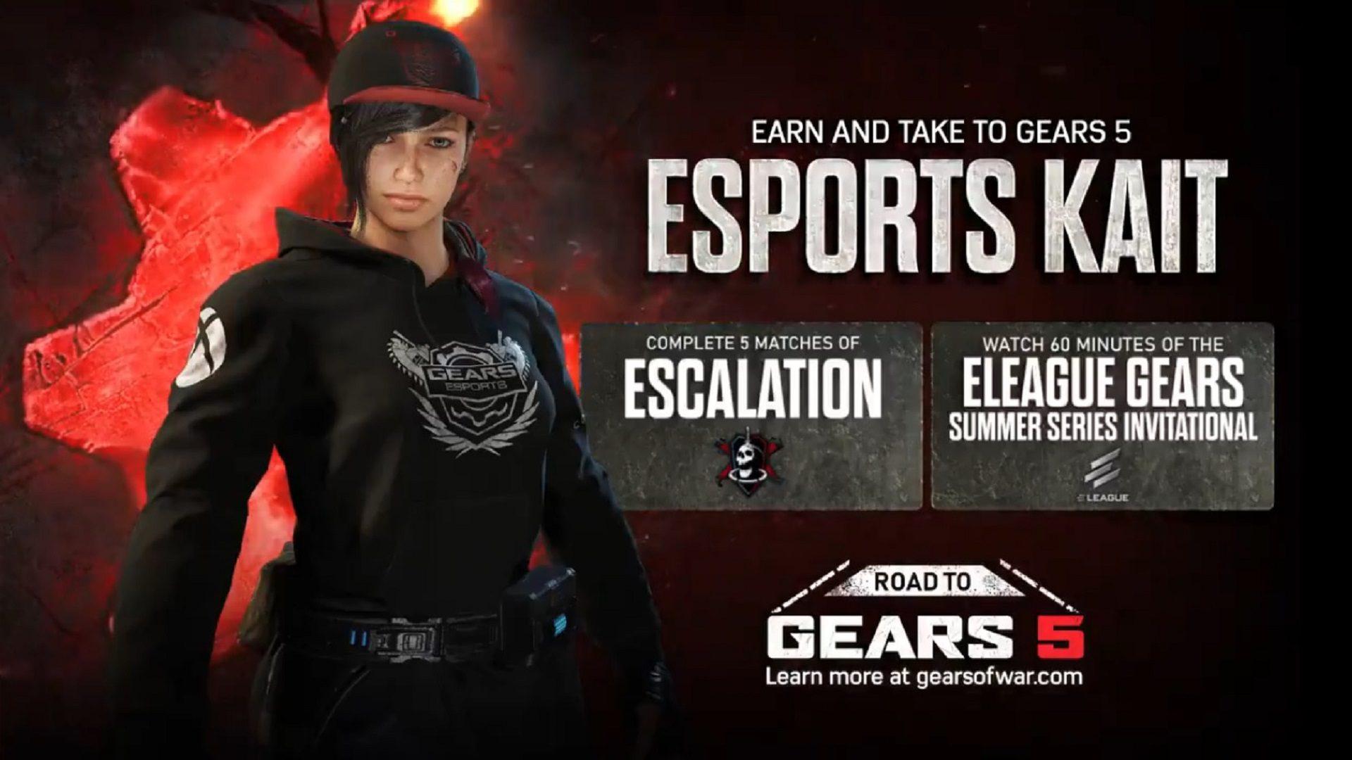 Sigue el camino a Gears 5 consiguiendo a Kait eSports