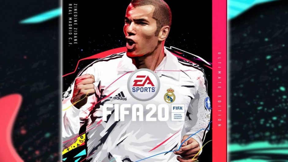 Zinedine Zidane, portada de la Ultimate Edition de FIFA 20