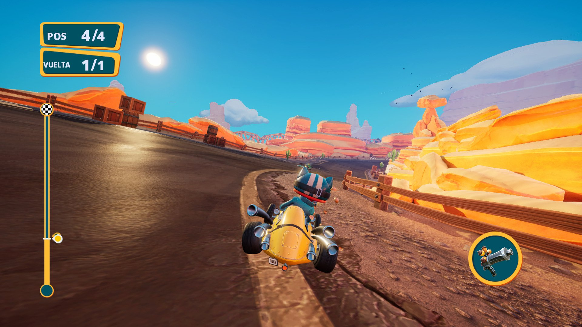 Meow Motors escenario desierto