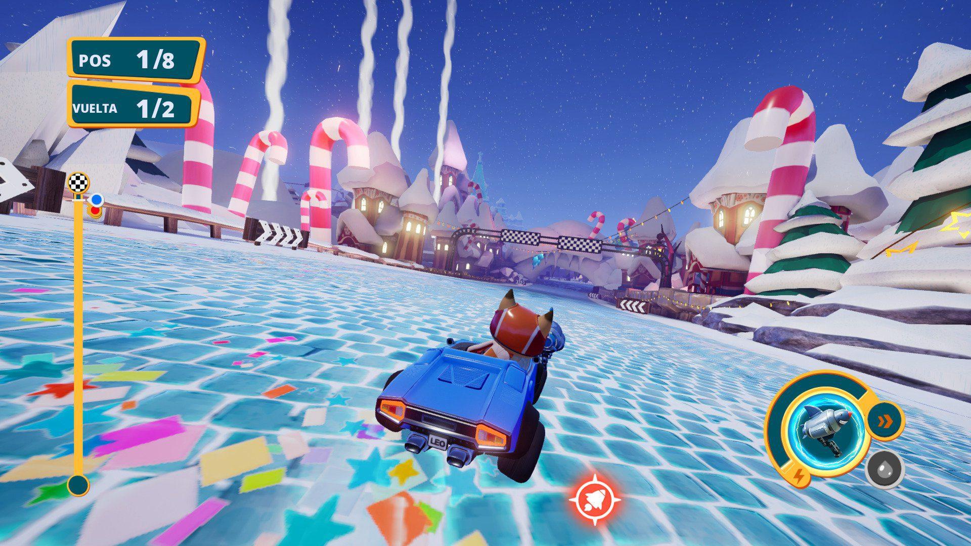 Meow Motors escenario helado