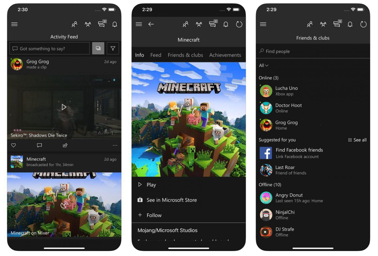 Aplicación de Xbox