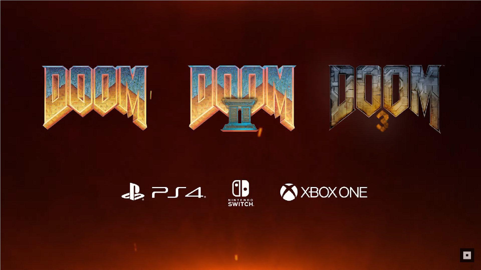 Bombshell! Doom, Doom II and Doom 3 have been re-launched for Xbox