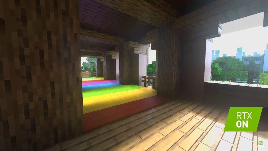 Minecraft luce brutal con iluminación por Ray Tracing