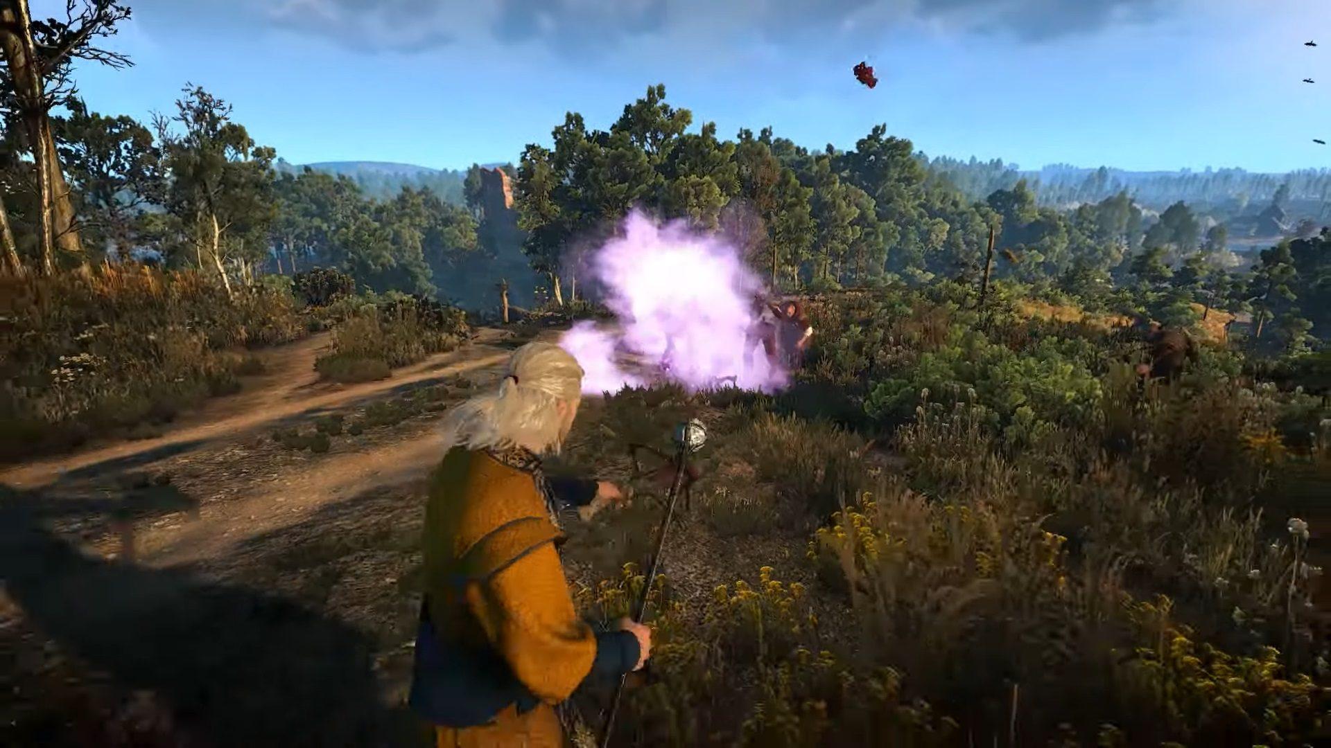 Brutales hechizos con este mod para The Witcher 3