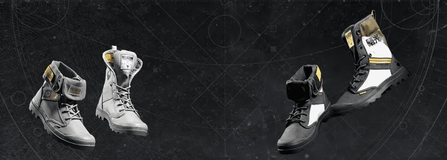 Ambos modelos de edición limitada de las botas de Destiny 2 y Palladium