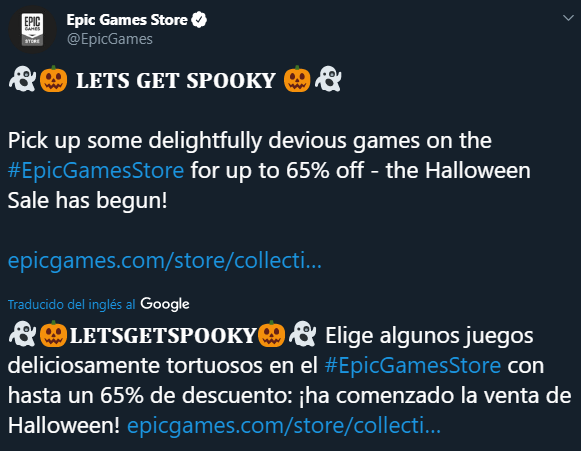 Epic Games Store Halloween GX