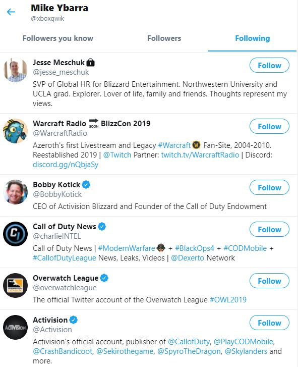 Rumor: Mike Ybarra podría estar preparando su llegada a Activision Blizzard