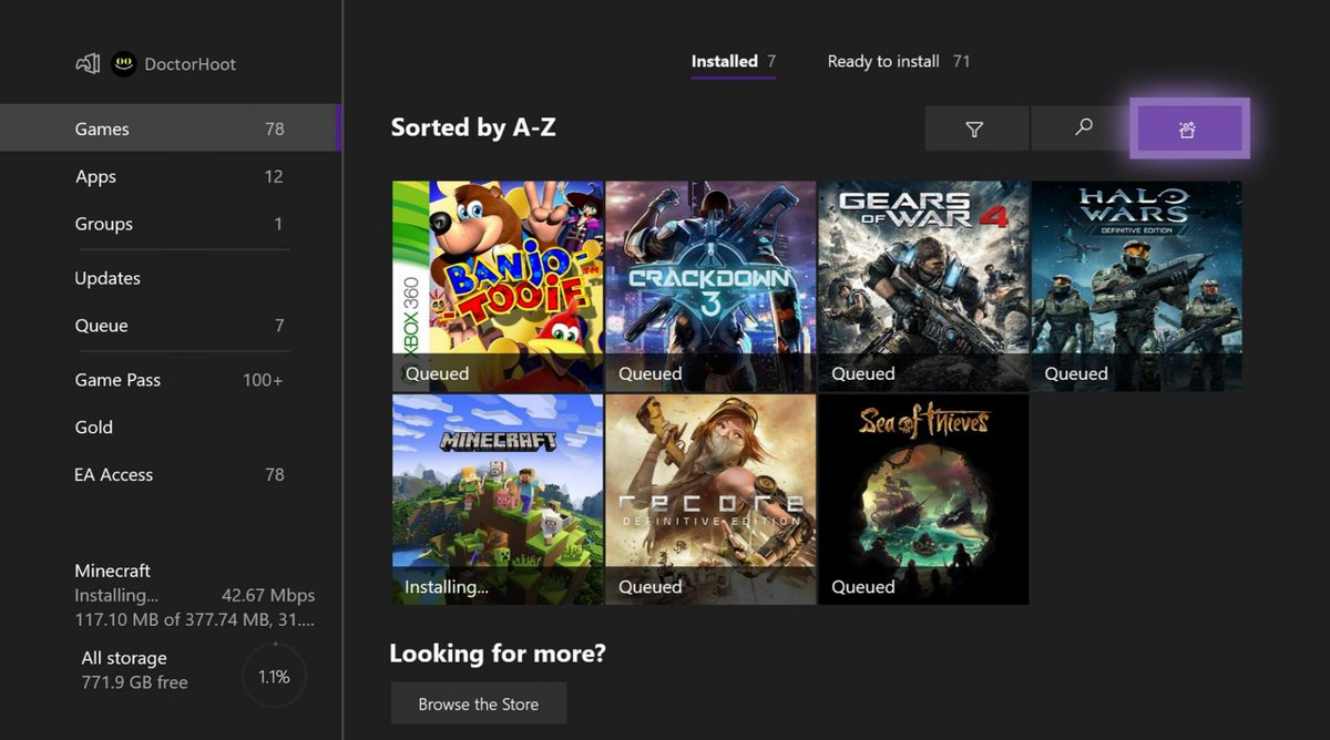 Botón Sorprendeme de Xbox en la última actualización de Skip Ahead para Insider