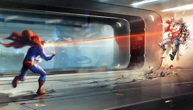 Superman versus Doomsday.