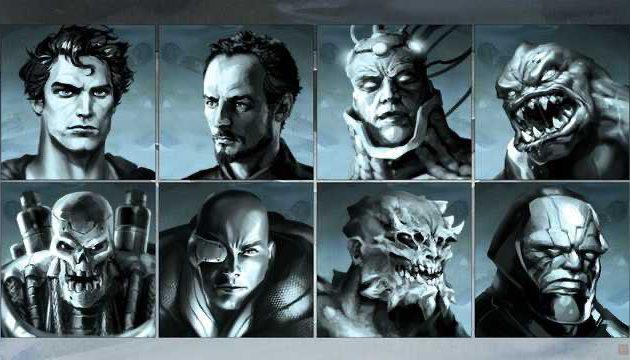 Artwork villanos de Superman.