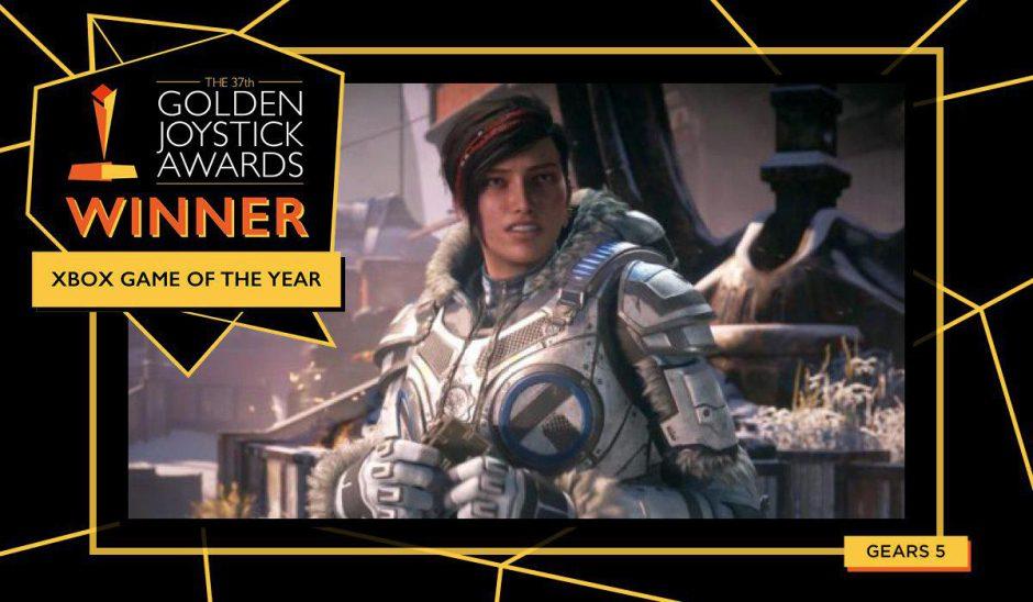 Gears 5, mejor juego del año de Xbox en los Golden Joystick Awards