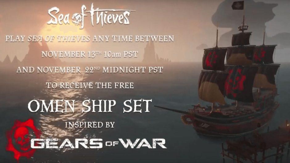 Consigue el Set Omen de Gears of War en Sea of Thieves