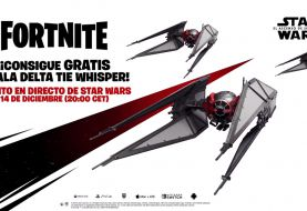 Consigue gratis en Fortnite el Ala Delta TIE Whisper de Star Wars