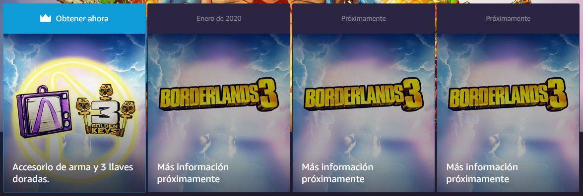 Consigue contenido exclusivo para Borderlands 3 con Twitch Prime