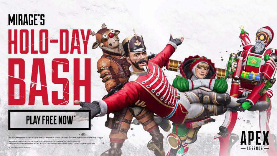 Holo-Day Bash es el evento navideño de Apex Legends