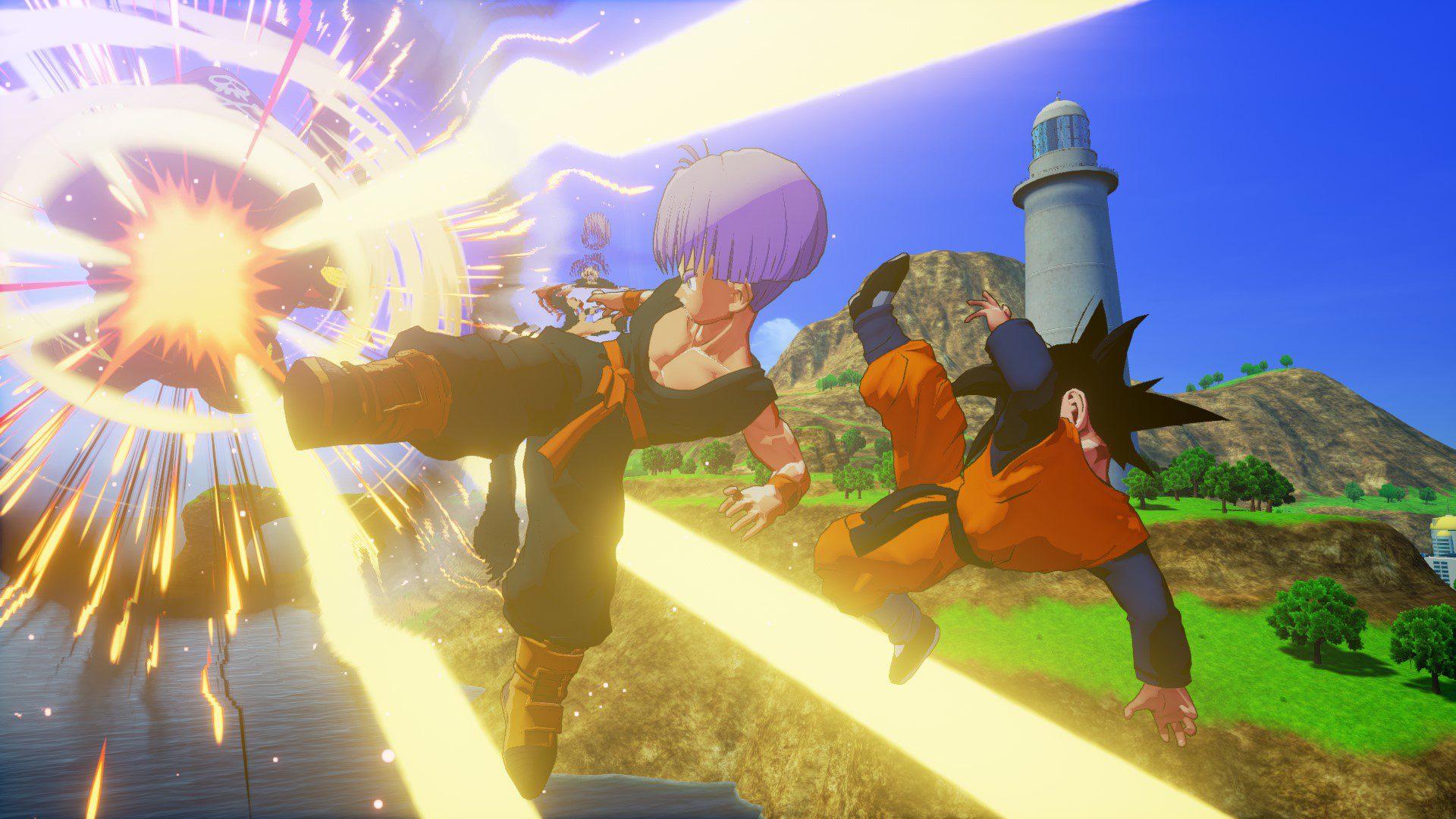 Goten, Trunks y la Androide 18 protagonizan las nuevas imágenes de Dragon Ball Z: Kakarot