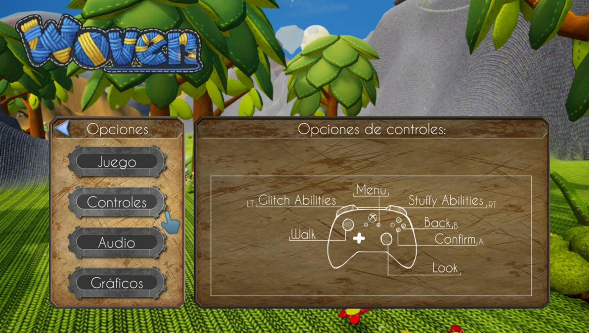 Woven the Game controles y falta de localización completa