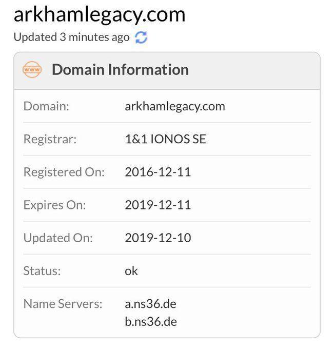 El dominio de Batman Arkham Legacy acaba de ser actualizado